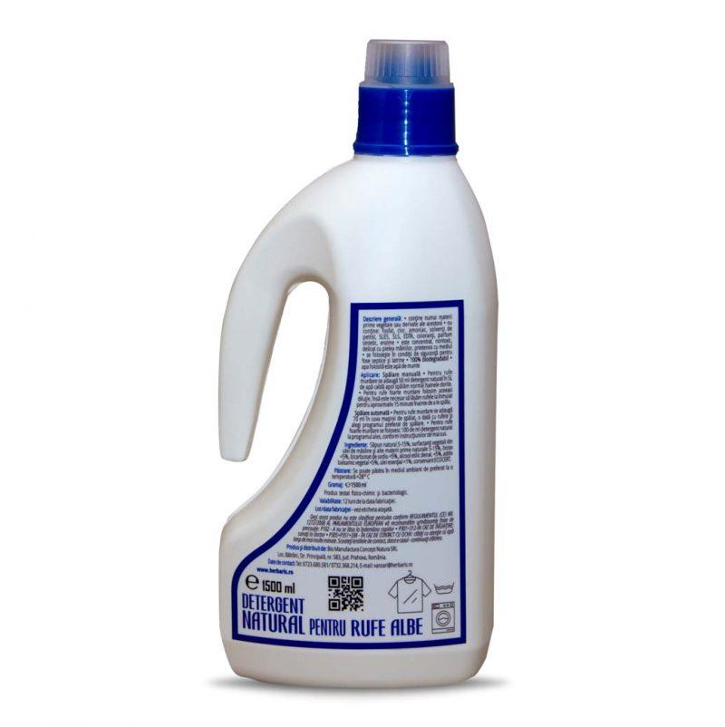 Detergent natural pentru rufe albe cu Pin, 1500ml