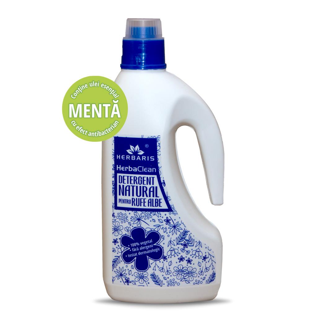 Detergent natural pentru rufe albe cu Mentă, 1500ml