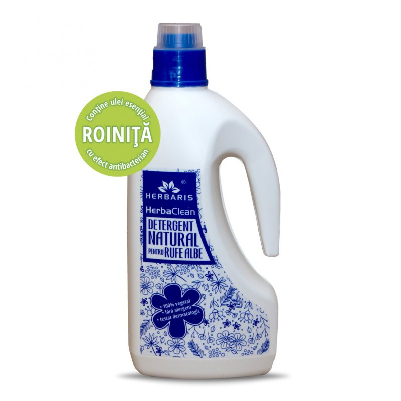 Detergent natural pentru rufe albe cu Roiniţă, 1500ml