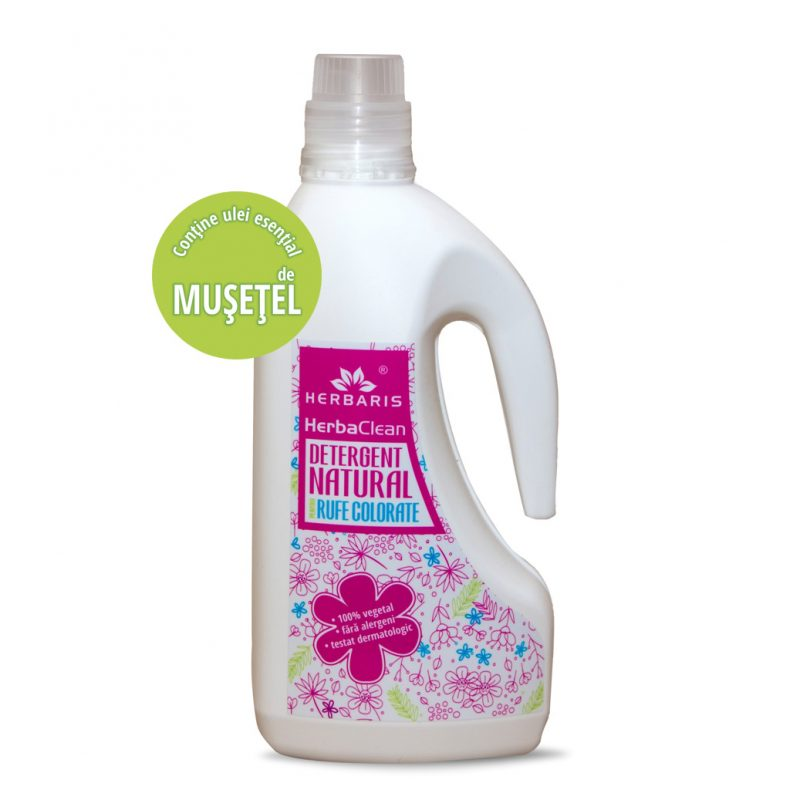 Detergent natural pentru rufe colorate cu Muşeţel, 1500ml
