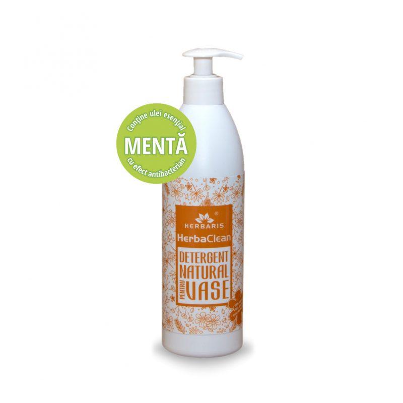 Detergent natural pentru vase cu Mentă, 500ml