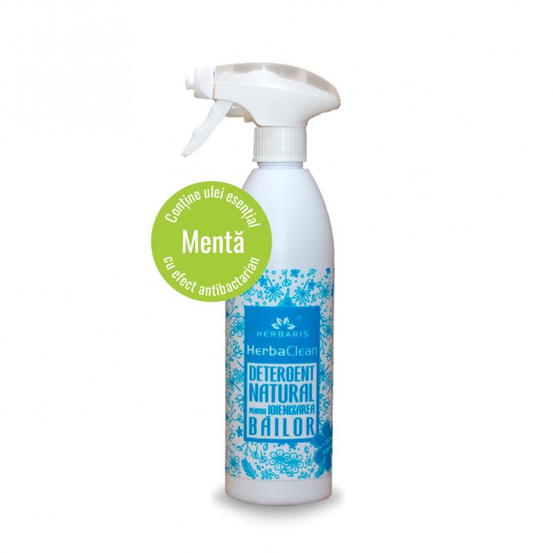 Detergent natural pentru igienizarea băilor cu Mentă, 500ml